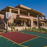 Rear Exterior w/ Basketball Court