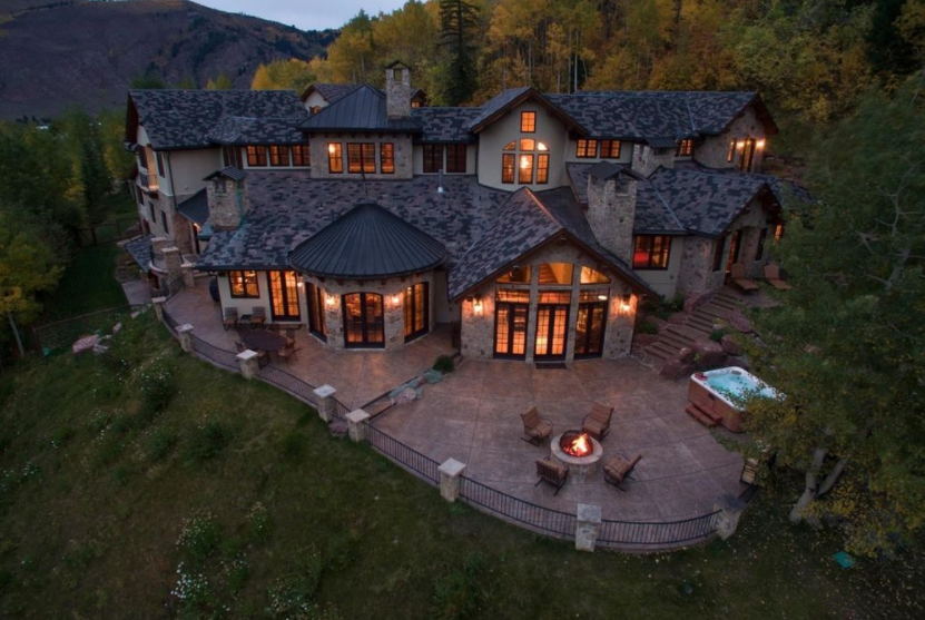 12,000 Square Foot Stone & Stucco Mansion In Avon, CO