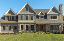 $3.2 Million Newly Built Shingle & Stone Mansion In Winchester, MA