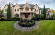 13,000 Square Foot Stone & Stucco Mansion In Old Tappan, NJ