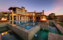 14,000 Square Foot Stone & Stucco Mansion In Henderson, NV