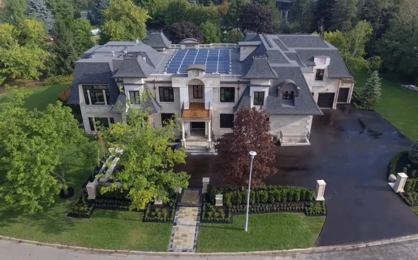 18,000 Square Foot Newly Built Limestone Mansion In Ontario, Canada