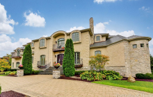 11,000 Square Foot Brick & Stone Mansion In Oak Brook, IL