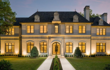 Newly Built French Inspired Brick & Stone Mansion In Dallas, TX