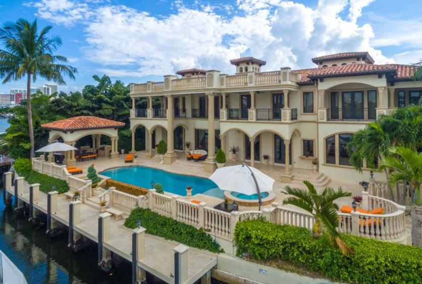 17 495 Million Mediterranean Waterfront Mansion In Golden