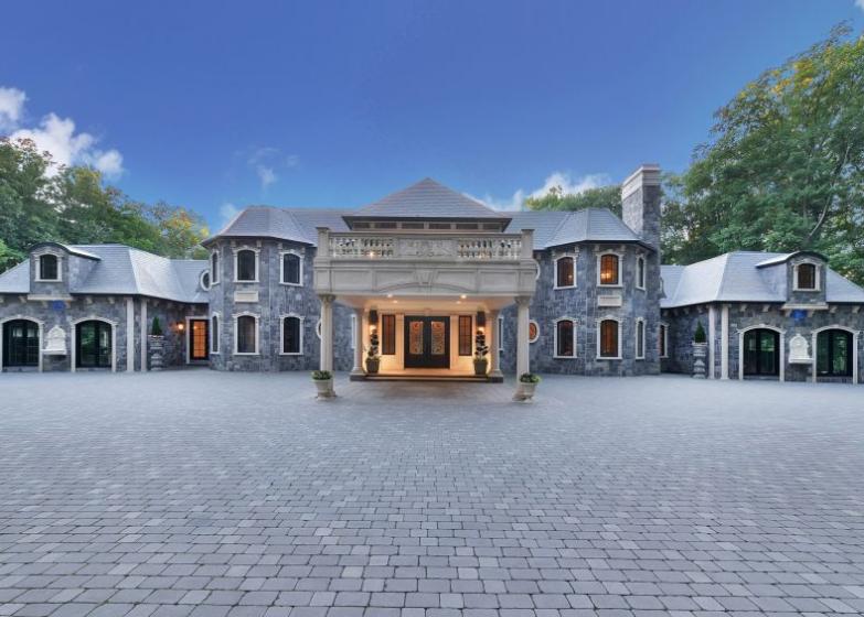 25,000 Square Foot Stone Home In Saddle River, NJ