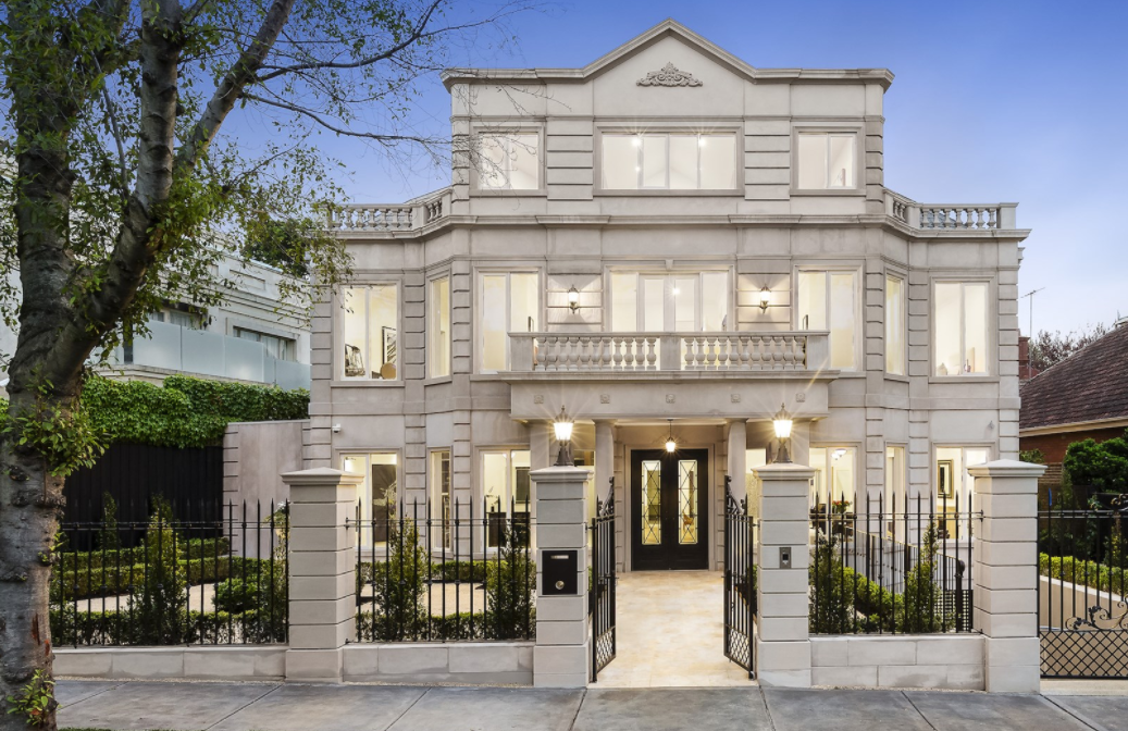 Newly Built Stone Mansion In Melbourne, Australia