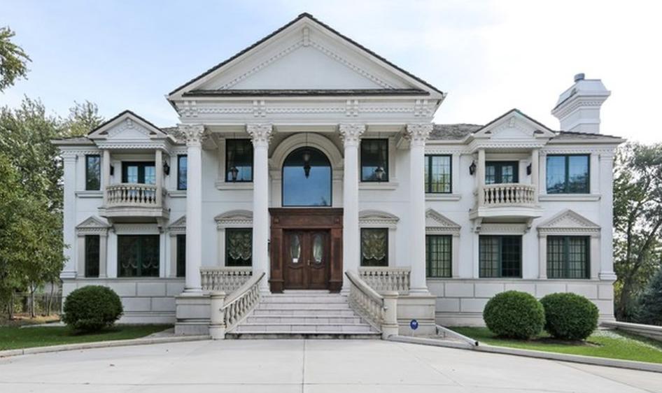10,000 Square Foot Stone & Stucco Mansion In Wheaton, IL