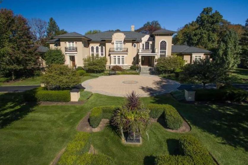 11,000 Square Foot Stone & Stucco Mansion In Gwynedd Valley, PA