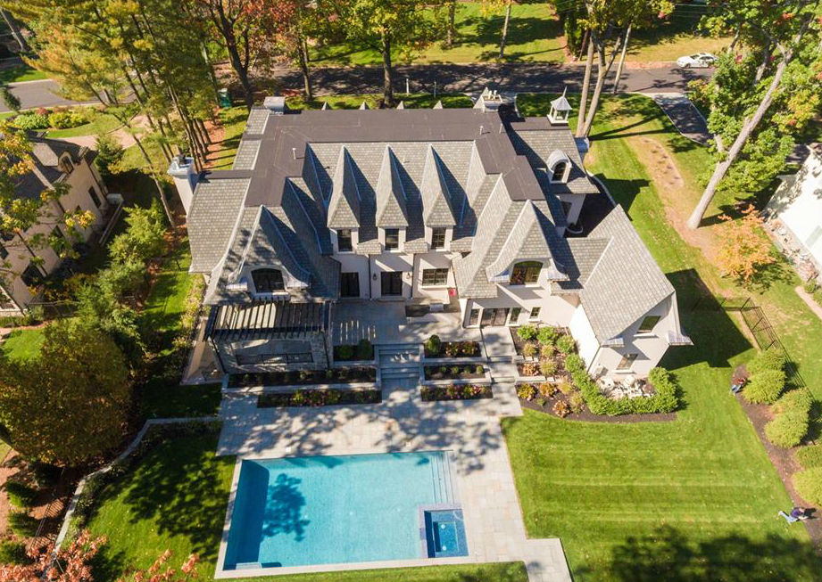 11,000 Square Foot Newly Built Stone & Stucco Mansion In Tenafly, NJ