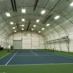 Enclosed Tennis Court