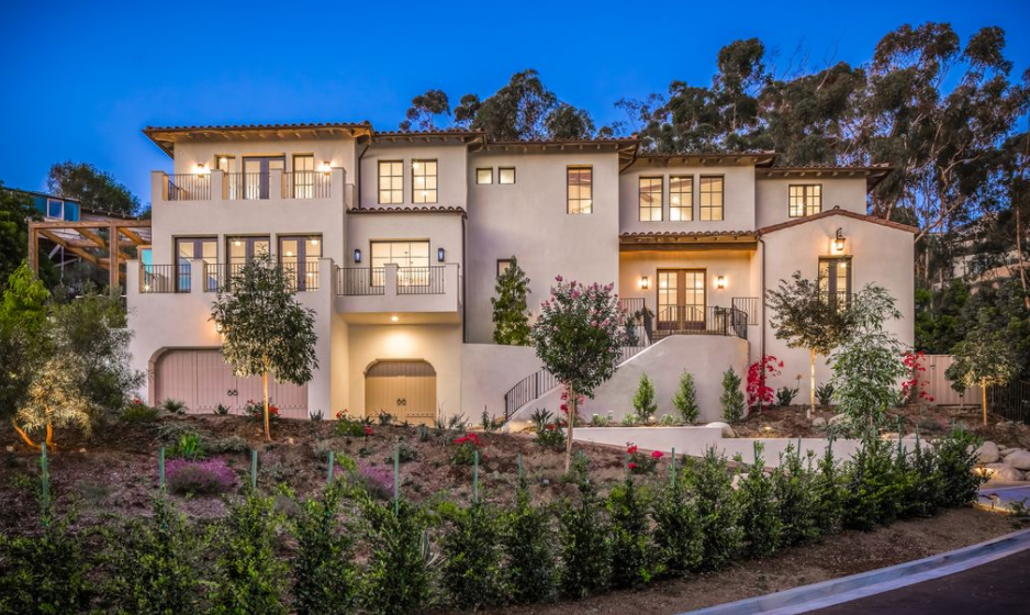 $4.795 Million Newly Built Spanish Style Stucco Home In La Jolla, CA