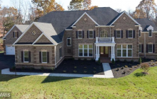 Newly Built Brick Colonial Home In Centreville, VA With 5-Car Garage