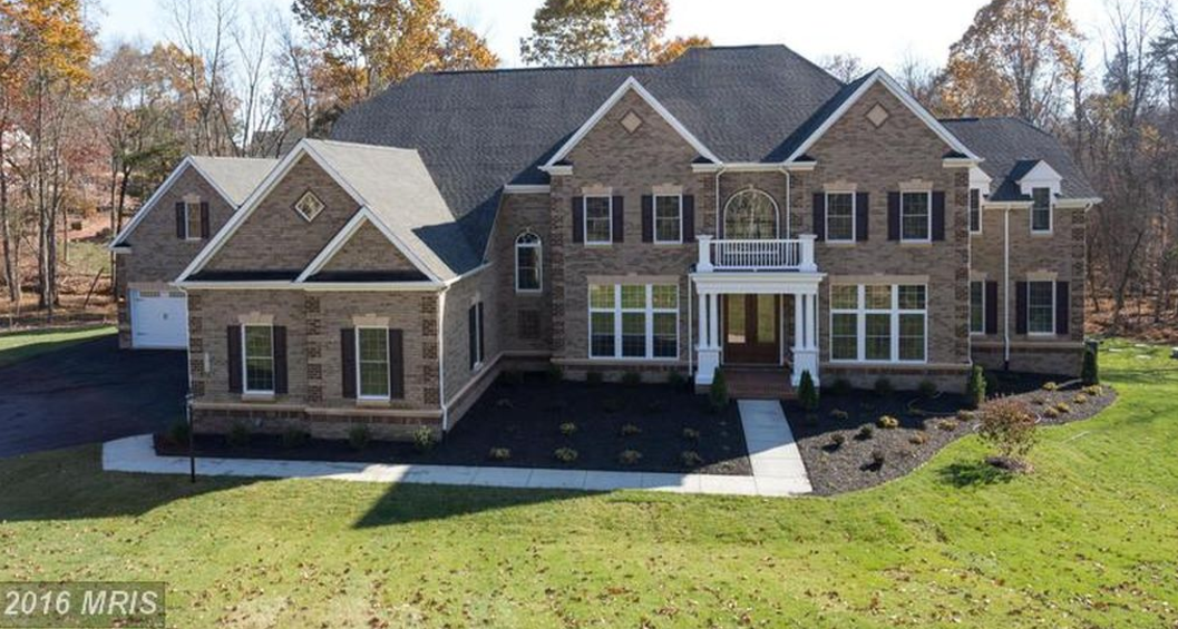 Newly built brick colonial home in centreville va with 5 for Five car garage