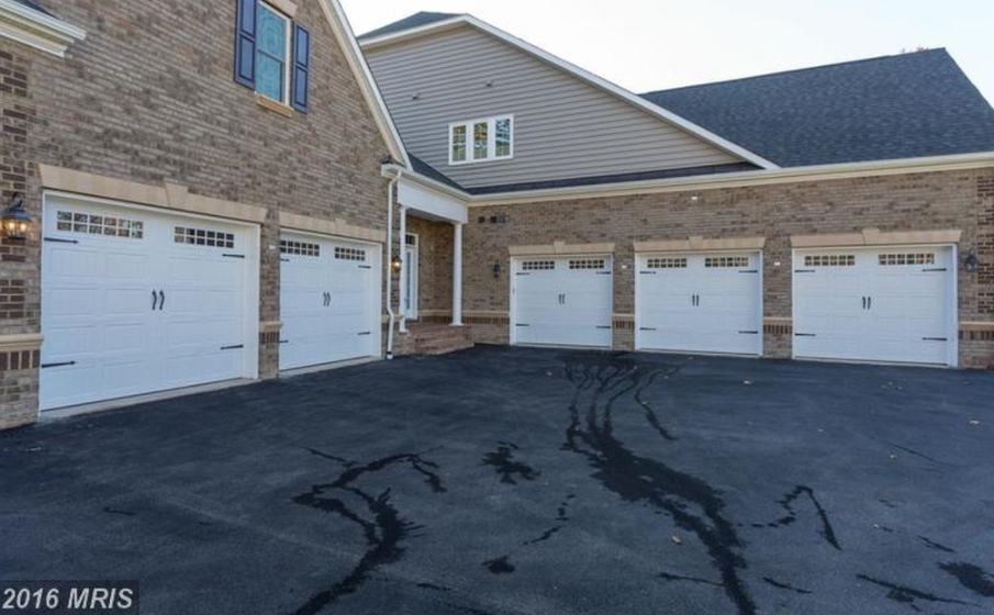 Newly built brick colonial home in centreville va with 5 for Brick garages prices