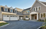 $4.35 Million Newly Built Shingle & Stone Home In Newton, MA