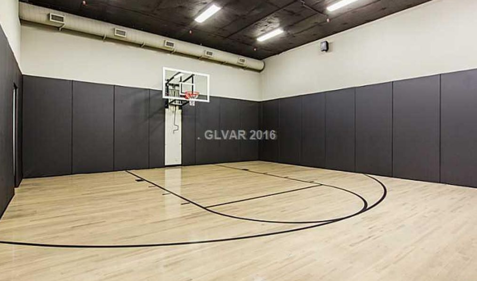 10 000 square foot newly built contemporary mansion in las for Built in basketball court