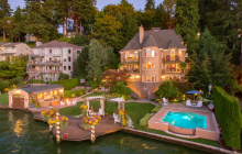 $6.985 Million Lakefront French Chateau In Lake Oswego, OR