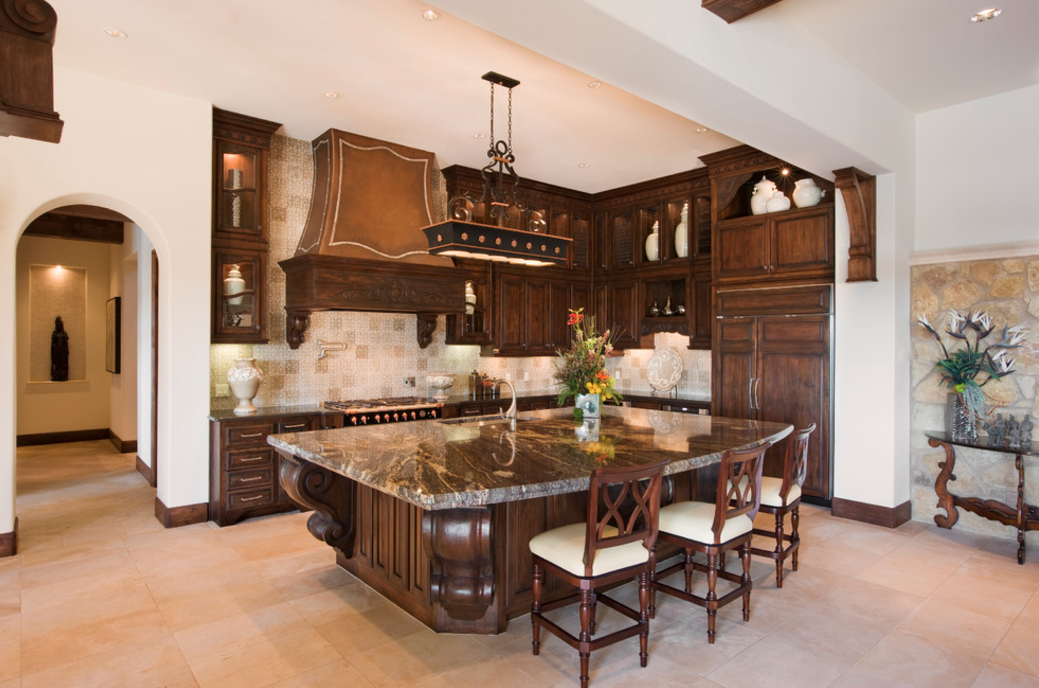 15 stunning gourmet kitchens homes of the rich for Gourmet kitchen islands