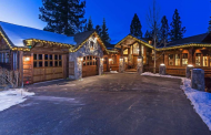 $3.7 Million Mountaintop Wood & Stone Home In Truckee, CA