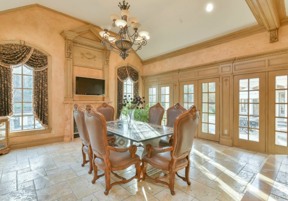 10 000 Square Foot Stone Stucco Mansion In Franklin
