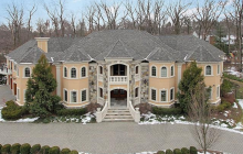 10,000 Square Foot Stone & Stucco Mansion In Franklin Lakes, NJ