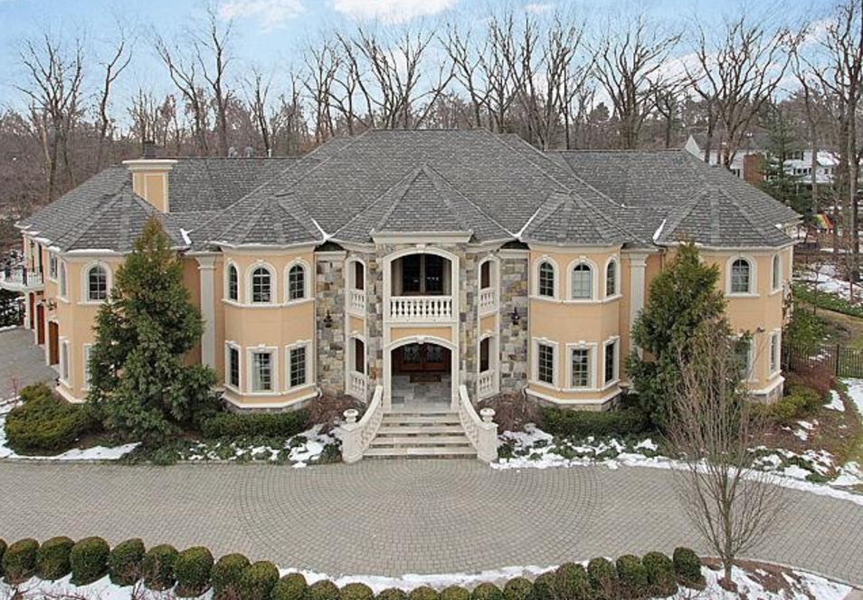 10 000 Square Foot Stone Amp Stucco Mansion In Franklin