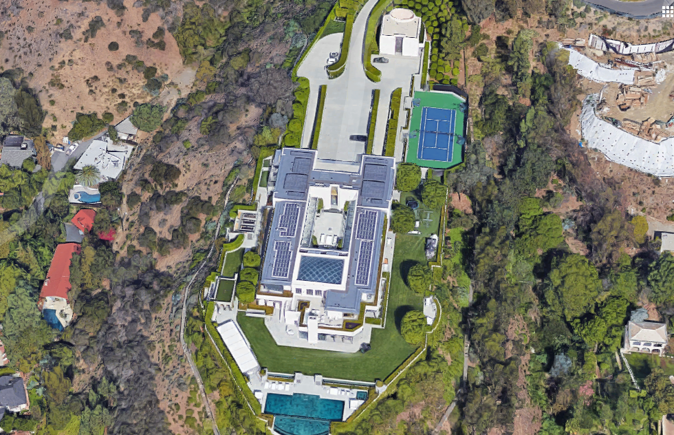 55 000 Square Foot Modern Mega Estate In Beverly Hills Ca