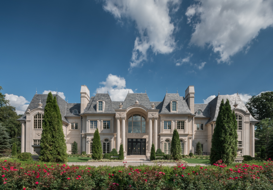 Breathtaking French Inspired Limestone Mansion In Alpine Nj on French Inspired House Plans