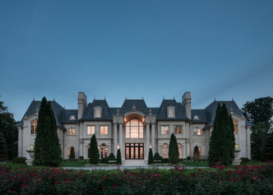 breathtaking french inspired limestone mansion in alpine nj - Limestone Home 2016