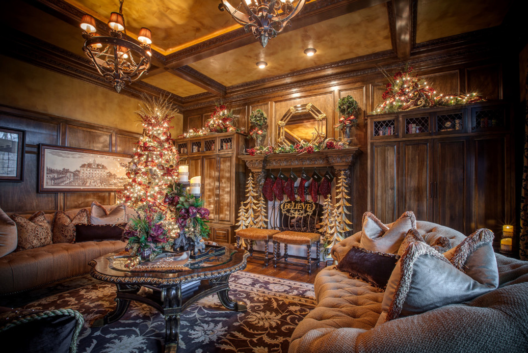 A look at 12 rooms beautifully decorated for christmas - Pictures of homes decorated for christmas on the inside ...