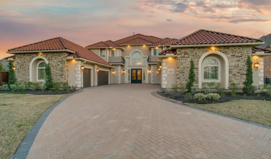 Stone And Stucco Homes Texas : Million stone stucco home in cypress tx homes