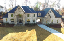 11,000 Square Foot Newly Built Brick & Stone Mansion In Johns Creek, GA