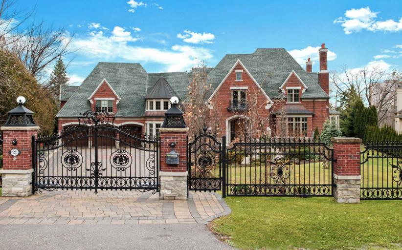 22,000 Square Foot Brick & Stone Mansion In Ontario, Canada