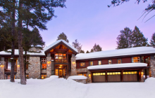 $7.9 Million Wood & Stone Home In Teton Village, WY