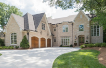 $2.295 Million Newly Built Brick & Stone Mansion In Sandy Springs, GA