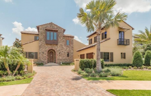 $2.35 Million Newly Built Stone & Stucco Home In Golden Oak, FL