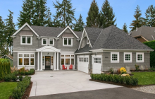 $3.6 Million Newly Built Colonial Shingle Home In Bellevue, WA