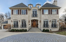$2.499 Million Stone Mansion In Hinsdale, IL