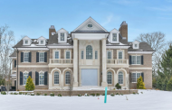 $5.995 Million Newly Built Brick Colonial Home In Alpine, NJ