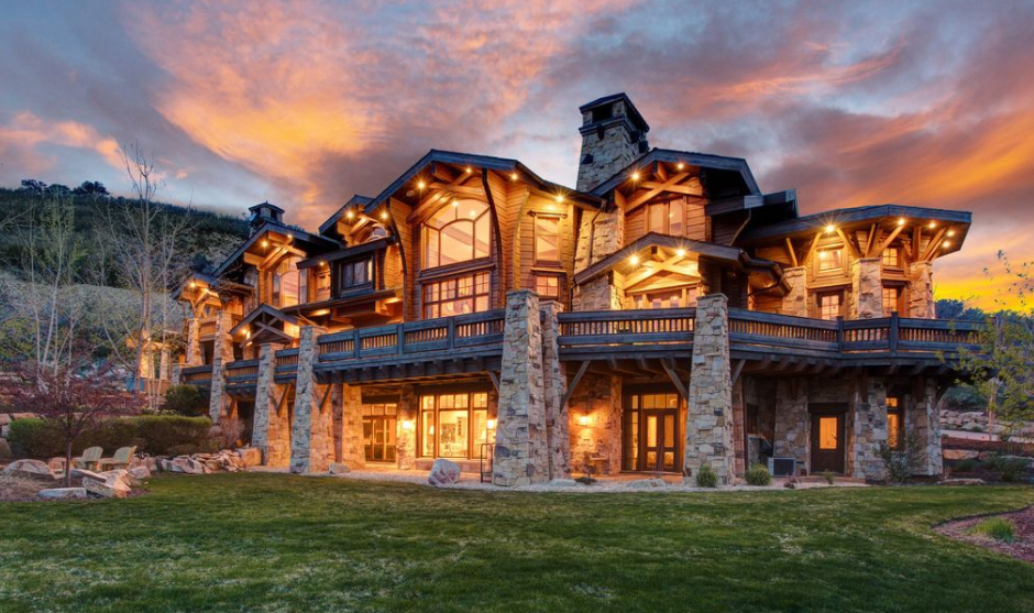 13000 Square Foot Stone Wood Mansion In Park City UT