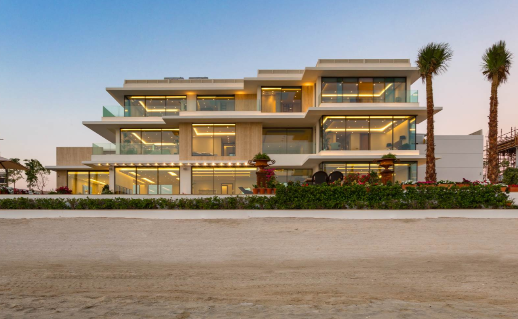15,000 Square Foot Newly Built Contemporary Waterfront Mansion In Dubai
