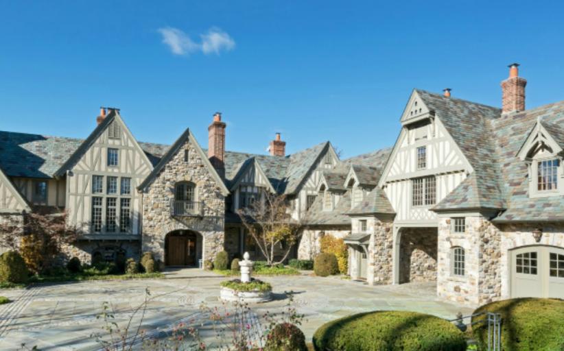 $30 Million English Tudor Stone Mansion In Kings Point, NY