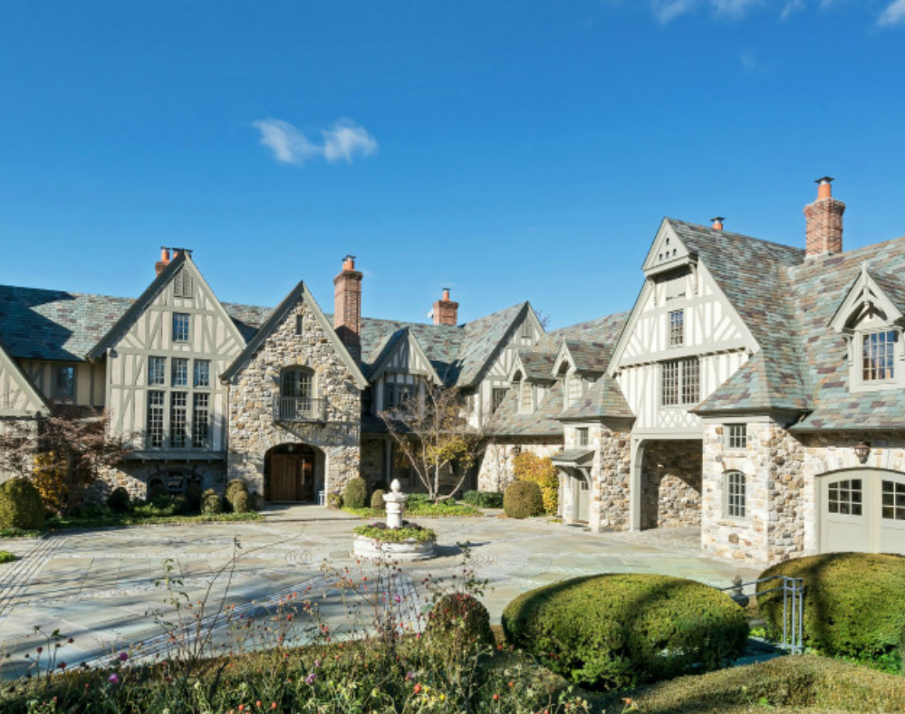 Million English Tudor Stone Mansion Kings Point