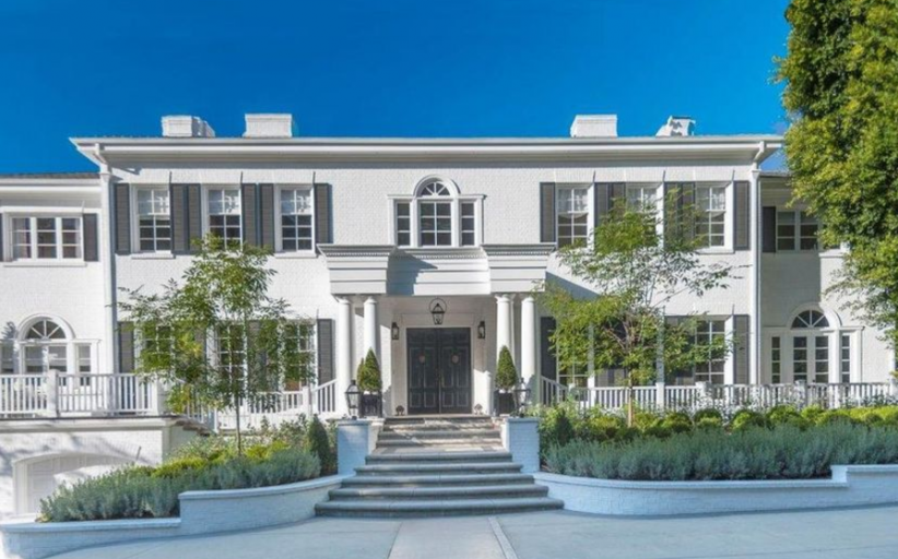$17.8 Million Colonial Brick Mansion In Beverly Hills, CA