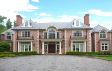 $6.895 Million Brick & Limestone Mansion In Saddle River, NJ
