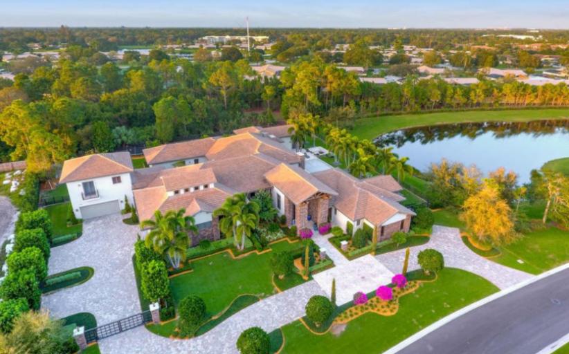 $7.5 Million Lakefront Golf Club Mansion In Palm Beach Gardens, FL
