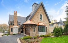 $2.599 Million Newly Built Brick & Stone Home In Hinsdale, IL