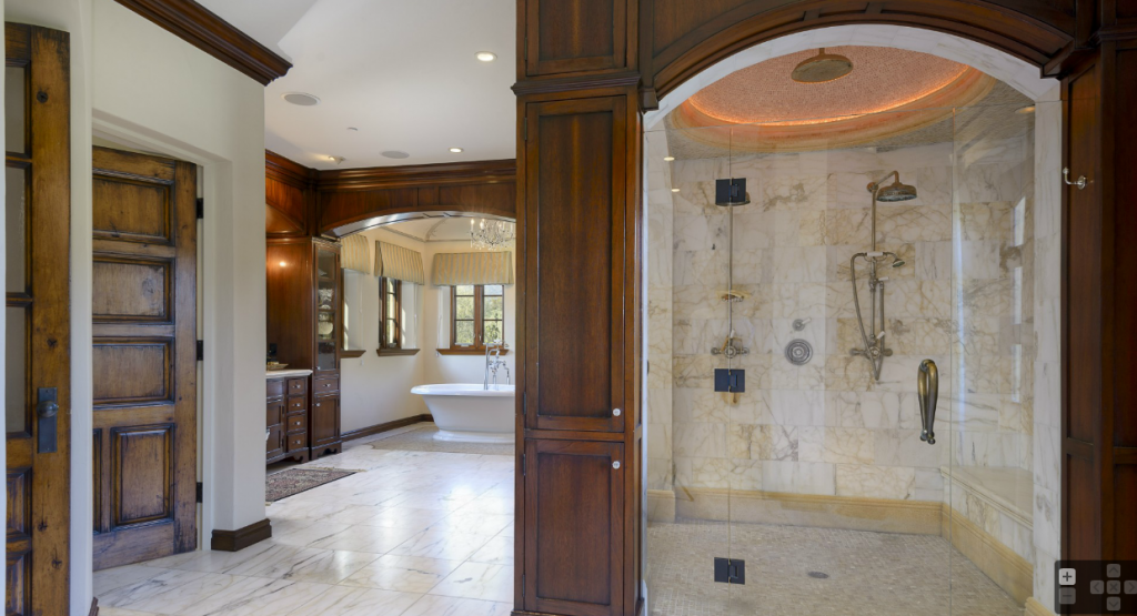 Million mediterranean mansion in montecito ca hotr for Bathroom 75 million