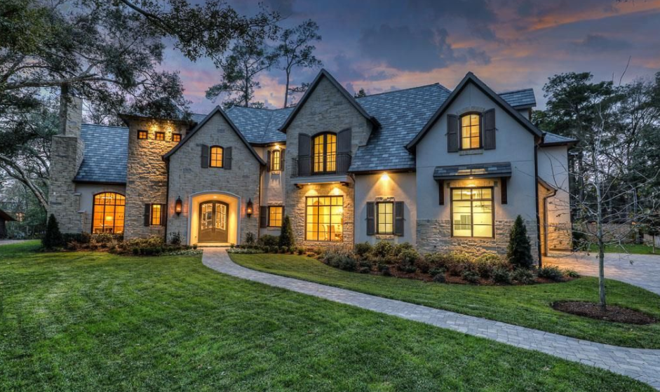 Stone And Stucco Homes Texas : Square foot stone stucco mansion in houston tx